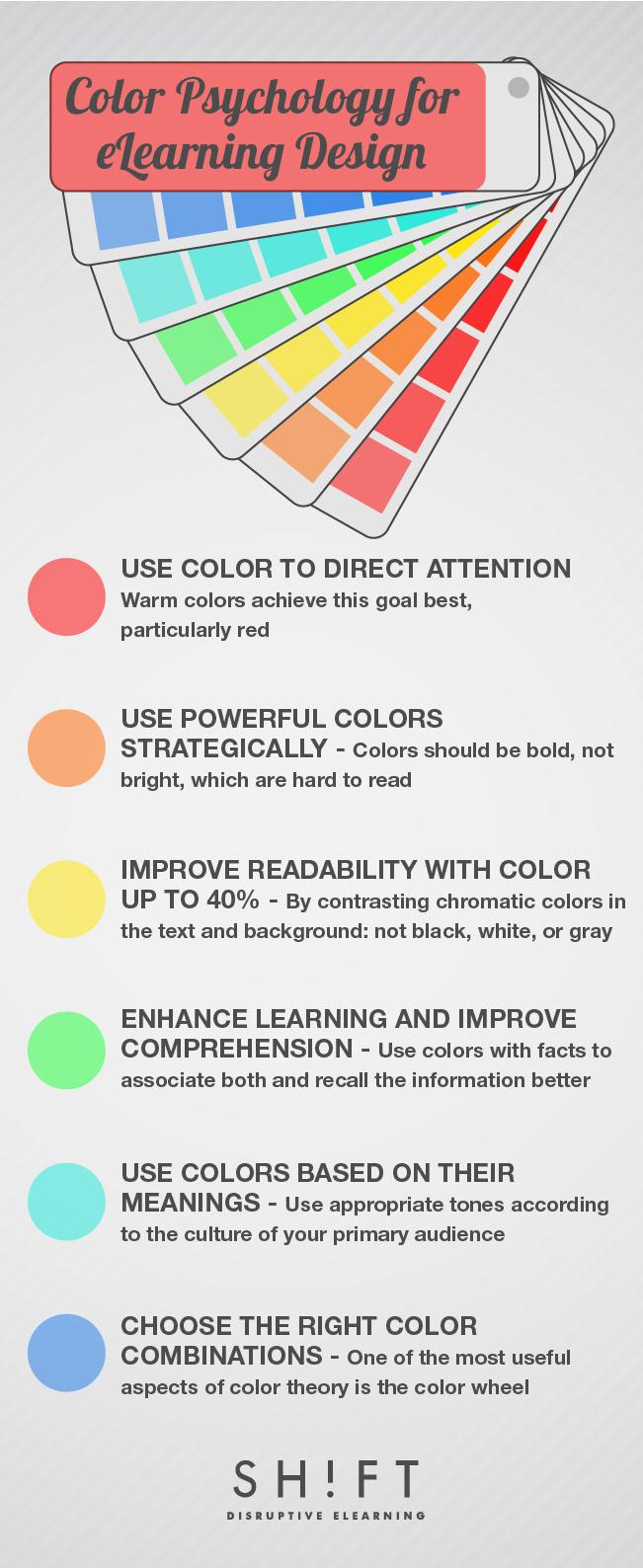 color psychology for eLearning design
