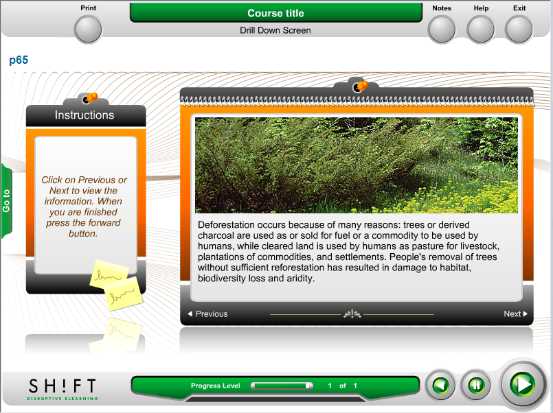 plantilla e-learning