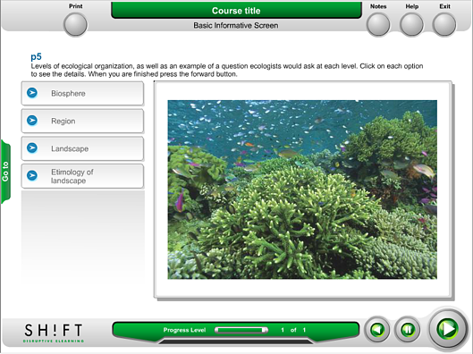 elearning template