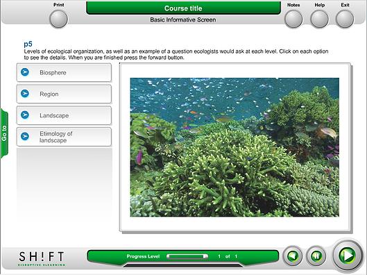 pantalla eLearning