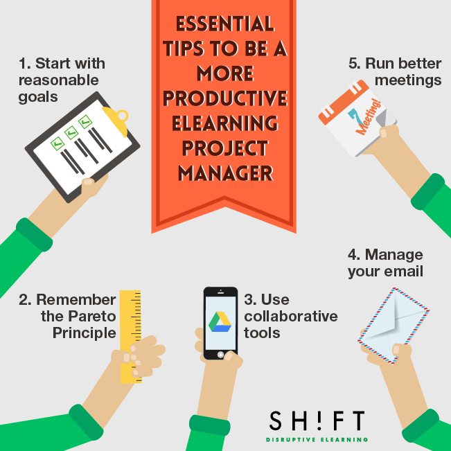 Productivity Tips for eLearning Project Managers 01