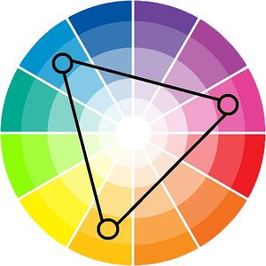 Triadic-color-scheme-Diagram