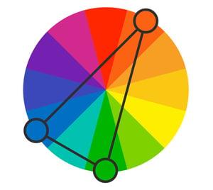 split-complementary-color-scheme